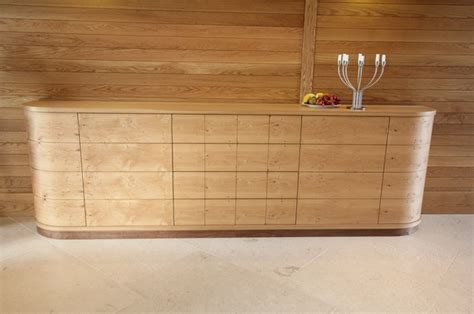 Family sideboard in Oak, Pippy Oak and Walnut   Bespoke