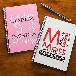 Personalized Notebook 2 personalized notebooks personally yours mini notebook set