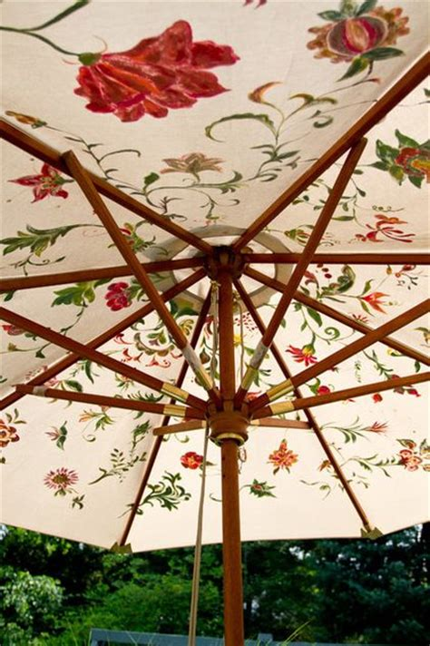 Great Idea To Use Fabric Paint On A Faded But Good Paint Patio Umbrella