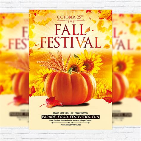 fall festival party premium flyer template facebook
