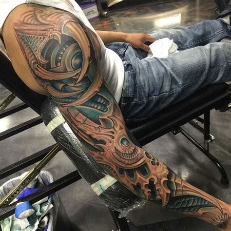 biomechanical sleeve tattoo best tattoo ideas gallery