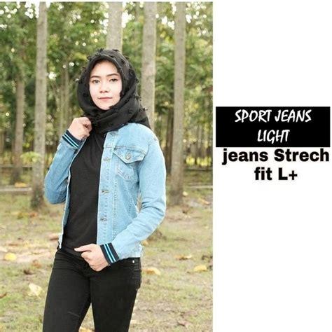 style jaket jeans wanita hijab kekinian tutorial hijab