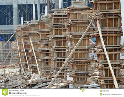 House Design Plans Philippines timber column formwork under construction at the