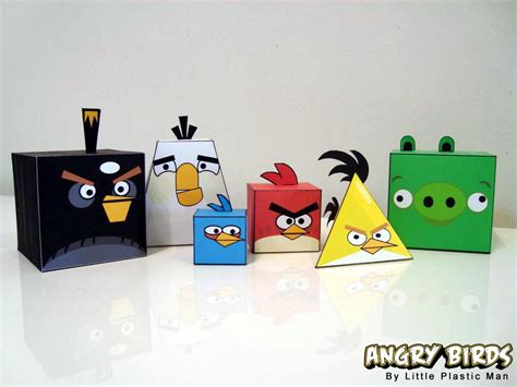 Paper Craft Project - angry birds paper crafts gadgetsin