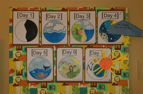 craft creations for easy activities for teaching the days of creation to