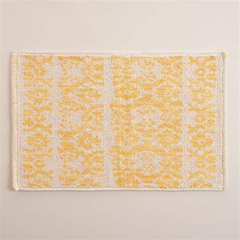 world market bath rugs lemon ikat stripe woven bath mat world market