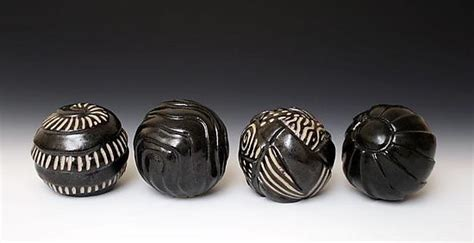 small sphere sculpture  larry halvorsen ceramic