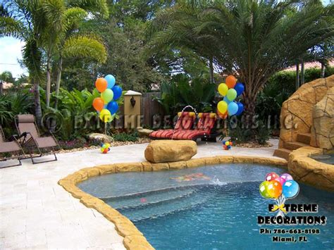 Decorating Ideas For Pool Area Decorations Miami Balloon Sculptures