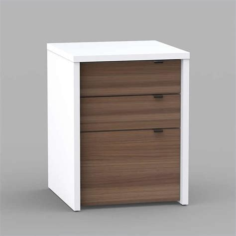 liber t home office kit with two reversible desk panels 3 computer desk in white and walnut 211x03 kit