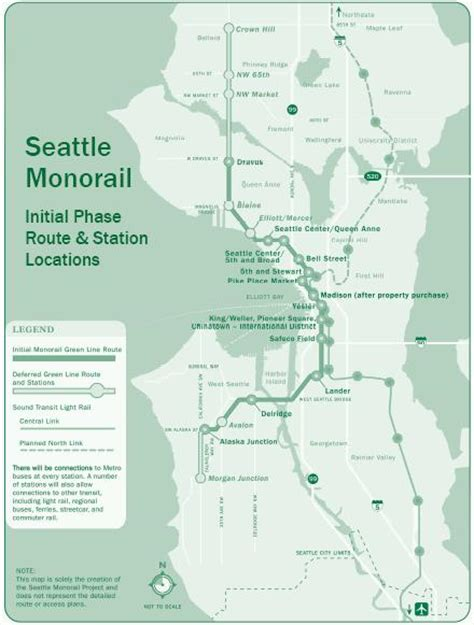 seattle map monorail a brief tour of the cascadia monorail