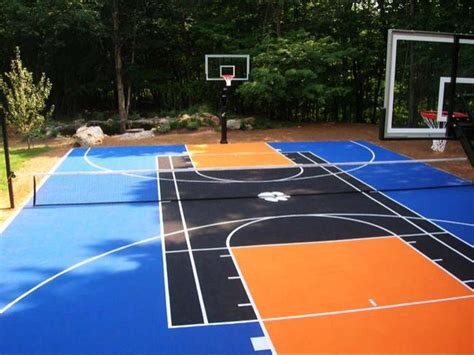 backyard tennis basketball court dallashomelessnetwork