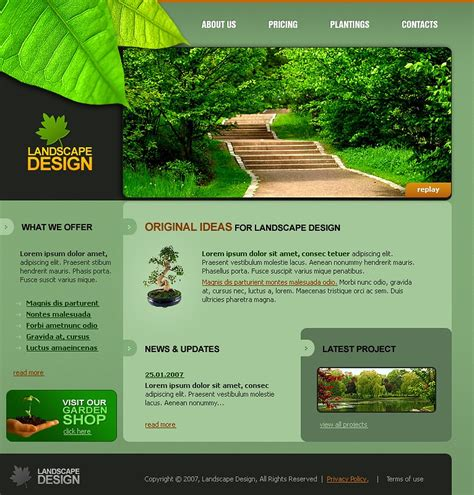 landscape design templates landscape design website template 14792