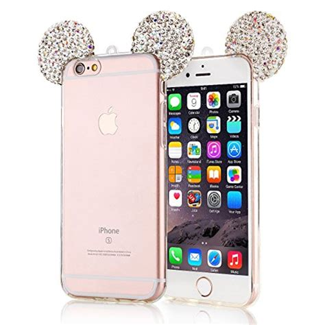 Softcase Ring Holder Clear Metal Mirror For Iphone 6 Plus black lemon iphone 6 mirror iphone 6s bling