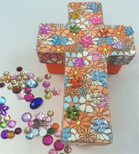 crafts religious paper mache christian cross trinket box s s