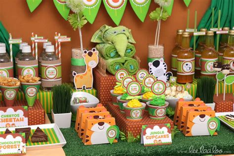 Safari Jungle Baby Shower Decorations by Jungle Theme Baby Shower Ideas