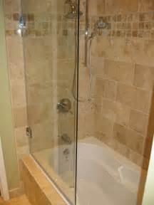 Bathtub shower doors installed in their bathrooms click each frameless