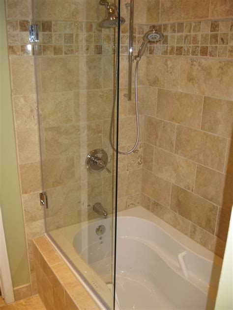 Bathtub Shower Stall Combination Glass Panel Without Frame For Bathtub A Bathtub Fixture