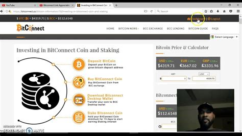 bitconnect not staking buying and staking a bitconnect token youtube