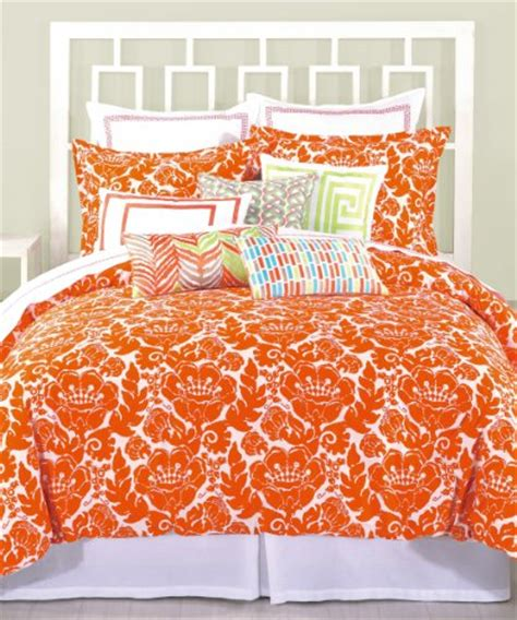 Orange And White Bedding Sets Rise Shine Orange And White Comforter Bedding Sets