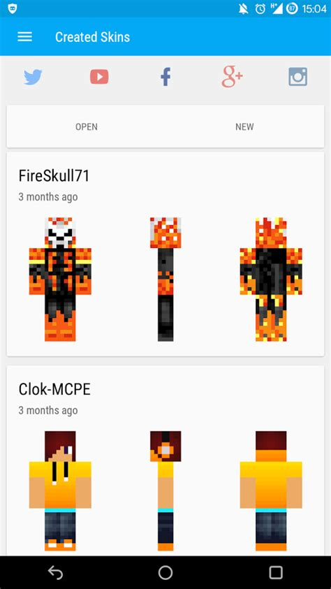 mcpe skin creator apk skin editor for minecraft pe 0 3 3 apk android tools apps