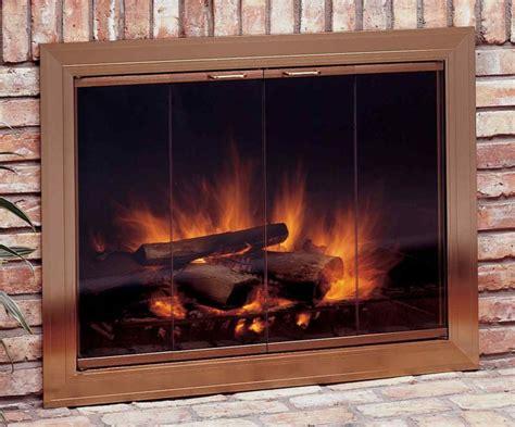 cool fireplace glass doors keep you warm all design