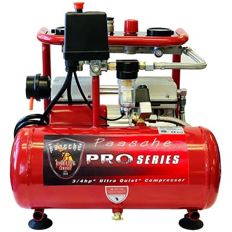 paasche dc850r 3 4 hp air compressor touche airbrush