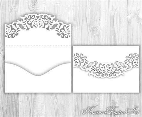 envelope wrapper pattern wedding invitation pocket envelope 5x7 svg template lace