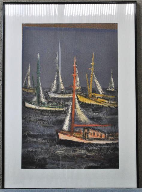 zeilboot op zee zeilboten op zee lithografie jordaens n v veilinghuis