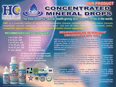 Concentrated Mineral 60ml mri concentrated mineral drops cmd for all kinds of