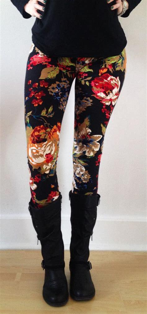 green patterned leggings best 25 floral leggings ideas on pinterest
