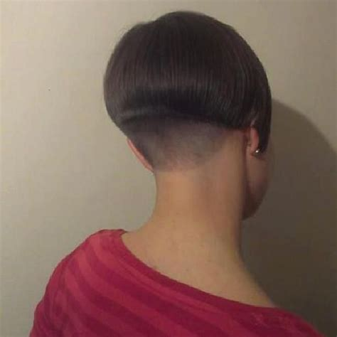 Layered Buzzed Bob Hair | short with shaved nape bobbed hair short and blunt