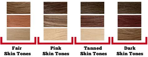 hair color for cool skin tones best chart for blonde matching hair color to your natural skin tone