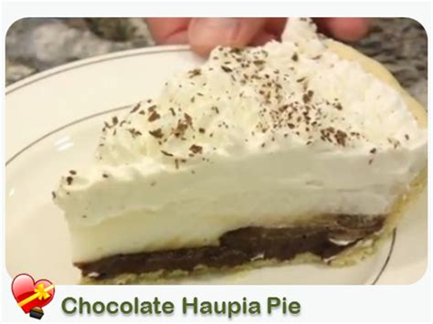 Choco Crust Caca By Qlfrozenfood delicious recipe for chocolate haupia pie with a