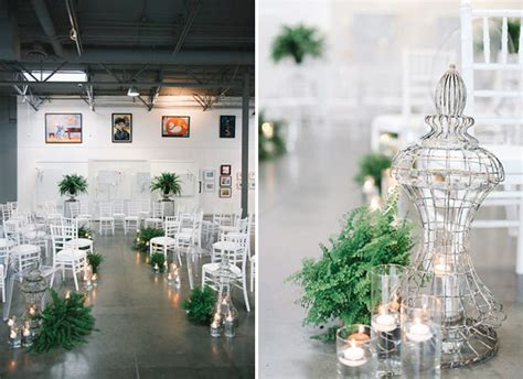 fern decor modern wedding inspiration with lots of ferns green