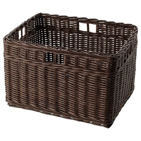 ikea baskets gabbig basket dark brown 29x38x25 cm ikea