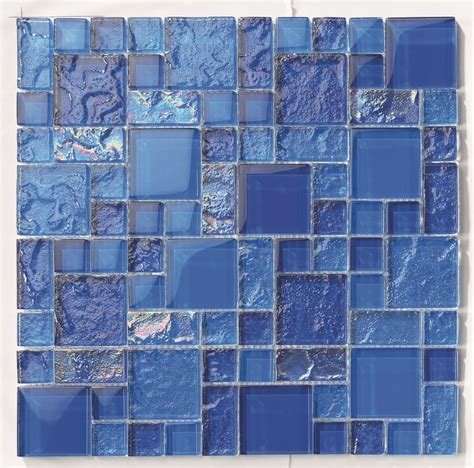 tiles and deco blue cobalt blend glass mosaic grant bay