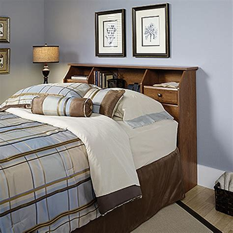 sauder headboard sauder shoal creek oiled oak full queen headboard 410847