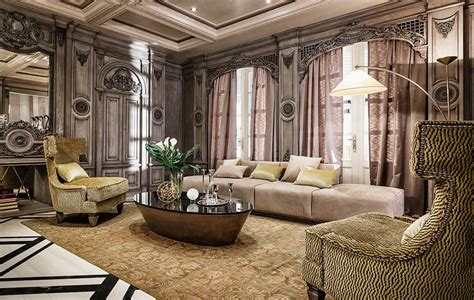 luxe home interior neoclassical and deco features in two luxurious interiors