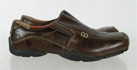 Skechers Size 8 by Skechers Brown Leather Slip On Loafer Shoes Size 8 5 Ebay