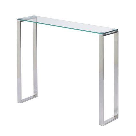 Gem glass narrow console table 36 buy glass console tables