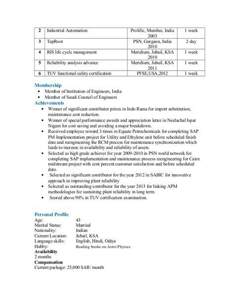 Tuv Functional Safety Engineer Sle Resume by Sanjit Samal Resume