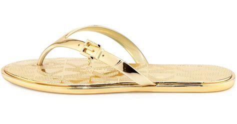 Flatshoes Emory Import 21 michael michael kors emory buckle flat sandal in gold lyst