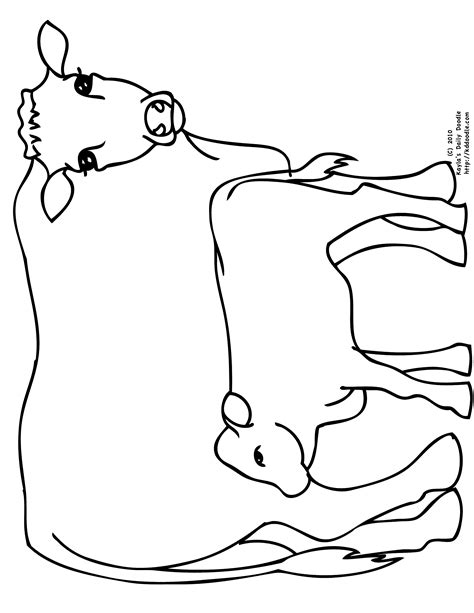 coloring pages of cow and calf free coloring pages of drawing of a cow
