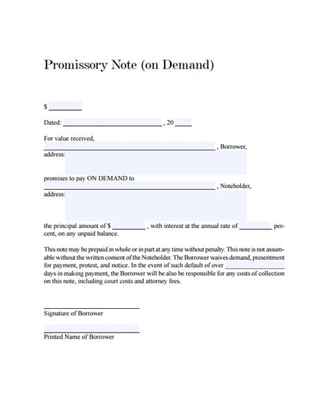 sle of promissory note 28 demand promissory note template www collegesinpa org