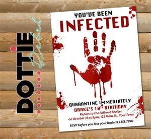 printable zombie invitations for a teen zombie party omg