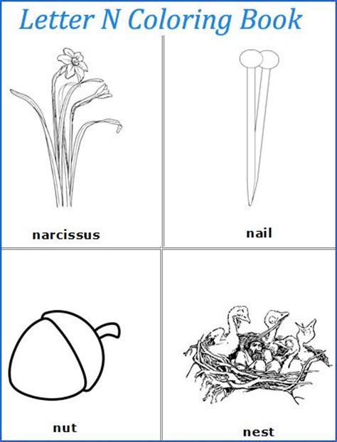 n words coloring page 17 best images about letter n on pinterest preschool
