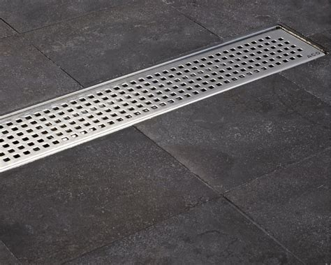 Shower Channel Drain by Aco Tiled Flooring Shower Drainage Channel Quadrato