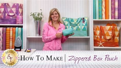 how to make a zippered box pouch with jennifer bosworth