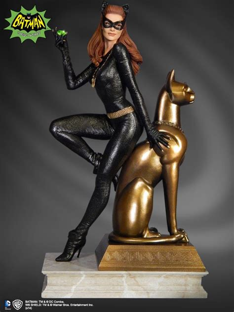 actress cat in blood batman 1966 julie newmar catwoman statue mightymega