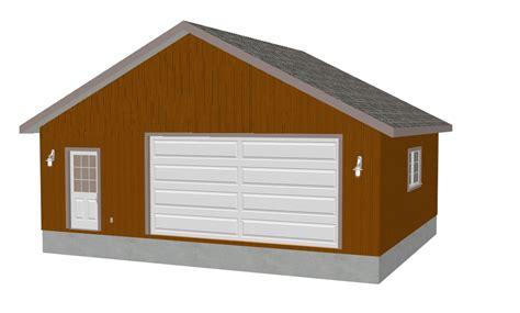 30x30 Garage Plans by Mig Garage Plans 24 X 30 Diy